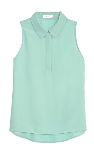 Aqua Francis Blouse by EQUIPMENT Now Available on Moda Operandi