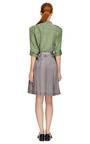 Safari Green Pigment Dyed Washed Habotai Major Blouse by EQUIPMENT Now Available on Moda Operandi