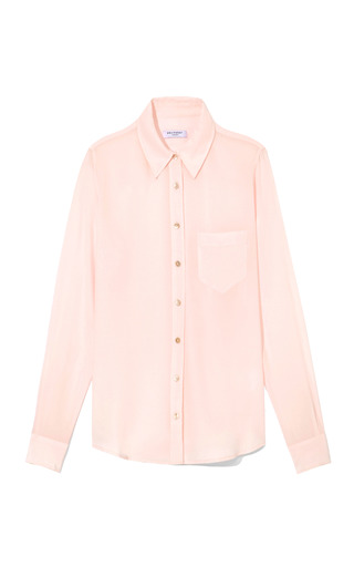 Medium equipment white lilac snow brett blouse