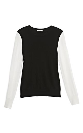 Medium equipment black shane two tone cashmere sweater
