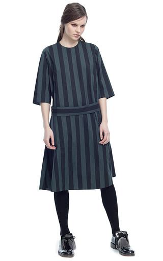 Medium marni stripe crispy st charcoal stripes dress