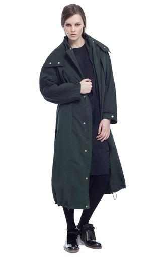 Medium marni green washed technical jacket