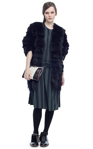 Volpe Chevron Fox Cape by MARNI for Preorder on Moda Operandi