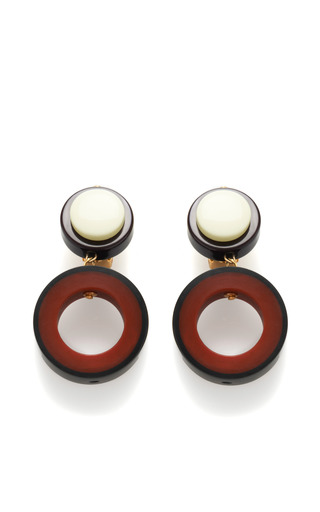 Medium marni red hoop resin earrings