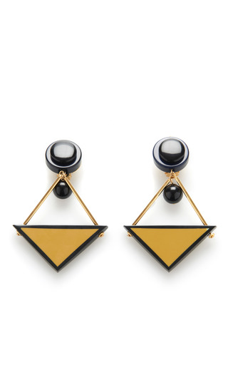 Triangle Resin Earrings by MARNI for Preorder on Moda Operandi