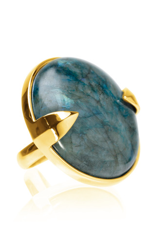 Gold Horatio Sword & Stone Ring by KNIGHT$ OF NEW YORK for Preorder on Moda Operandi