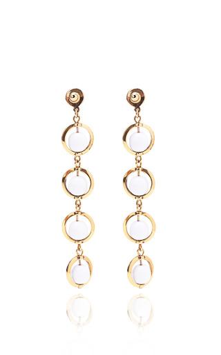 Molten Glass Drop Earrings In White by KARRY'O for Preorder on Moda Operandi