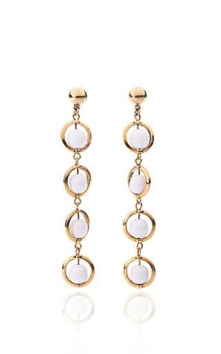 Medium karry o white molten glass drop earrings in white