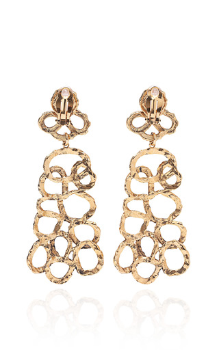 Hammered Organic Earrings by KARRY'O for Preorder on Moda Operandi