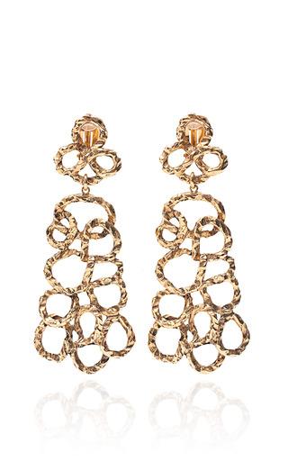 Medium karry o gold hammered organic earrings