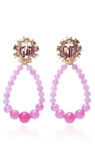 Molten Glass Hoops In Pink Amethyst by KARRY'O for Preorder on Moda Operandi