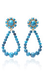 Molten Glass Hoops In Turquoise by KARRY'O for Preorder on Moda Operandi