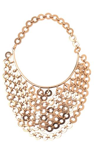 Medium karry o gold chainmail bib necklace