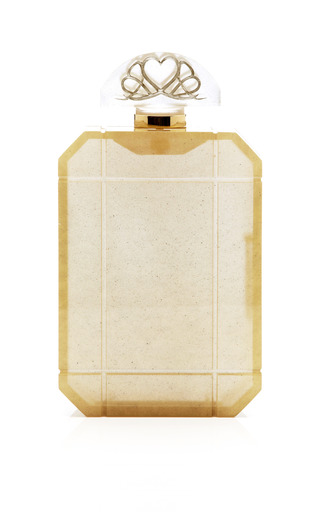 Medium charlotte olympia gold gold scent clutch