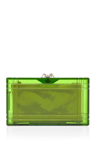 Green Perfume Pandora Clutch by CHARLOTTE OLYMPIA Now Available on Moda Operandi