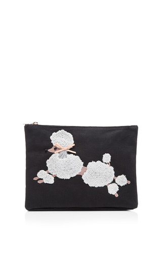 Medium charlotte olympia black poodle purse clutch