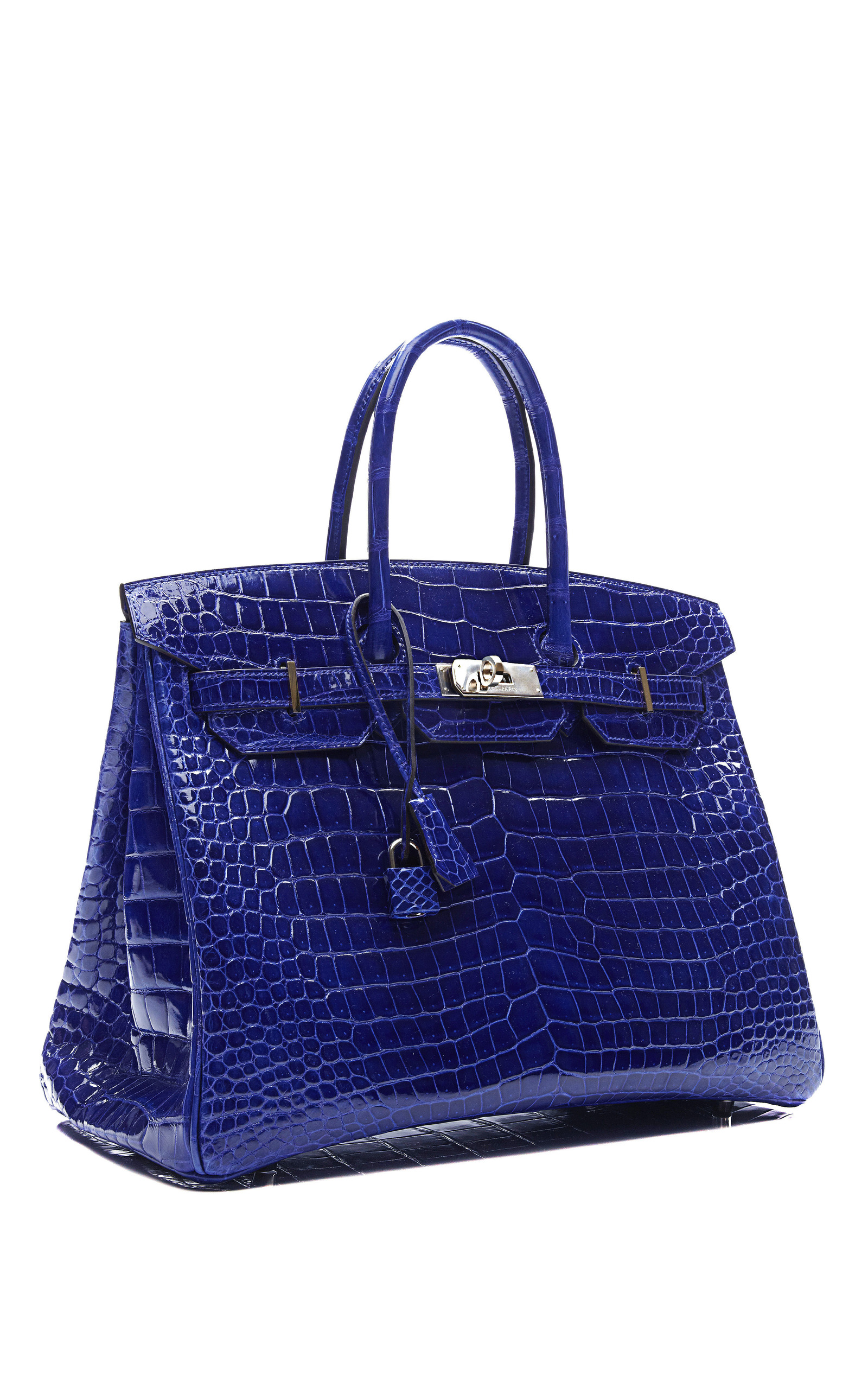 35Cm Shiny Electric Blue Porosus Crocodile Birkin by  011194344