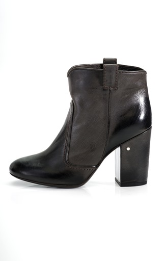 Medium laurence dacade black pete leather ankle bootie 2