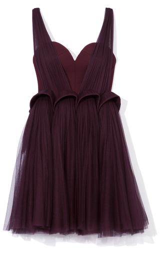 Sheer Organza Overlay Dress by DELPOZO for Preorder on Moda Operandi
