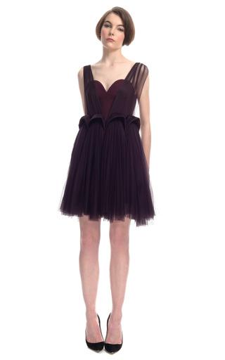 Medium delpozo sheer organza overlay dress