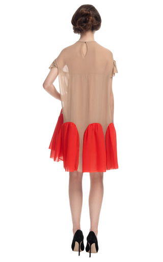 Embellished Contrast Gusset Dress by DELPOZO for Preorder on Moda Operandi