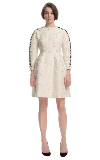 Exclusive Applique Sculpted Long Sleeve Dress by DELPOZO for Preorder on Moda Operandi