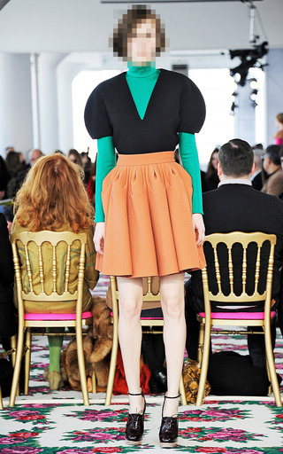 Exclusive Teardrop Heavy Pleated Skirt by DELPOZO for Preorder on Moda Operandi