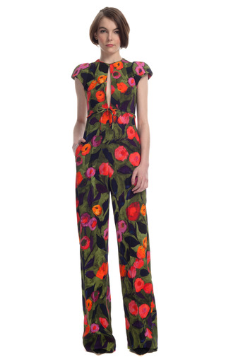 Painted Tulip Jumpsuit by DELPOZO for Preorder on Moda Operandi