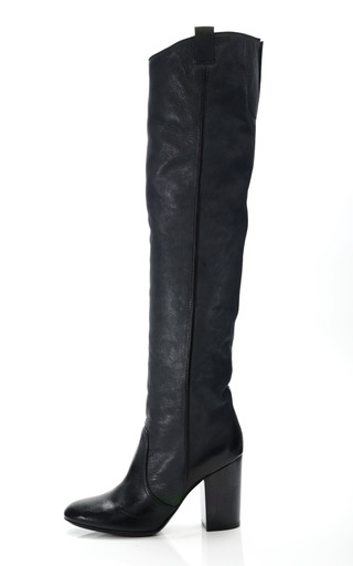 Medium laurence dacade black silas over the knee boot