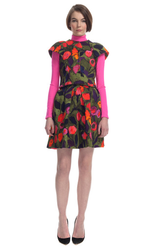 Painted Tulip Sculpted Shoulder Jacket by DELPOZO for Preorder on Moda Operandi
