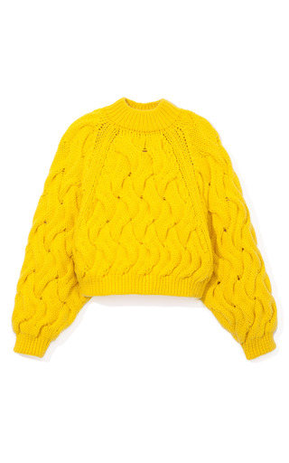 Medium delpozo yellow neon chunky sweater