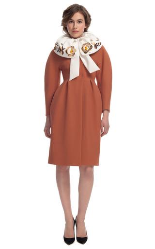 Medium delpozo red inverted pleat coat dress