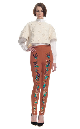 Medium delpozo red exclusive embellished pant