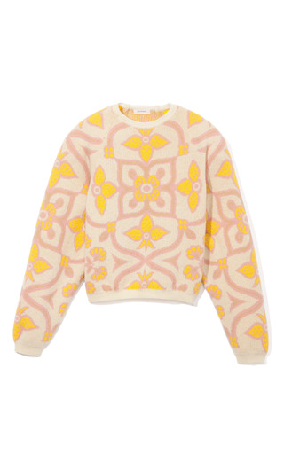 Quilt Print Sweater by DELPOZO for Preorder on Moda Operandi