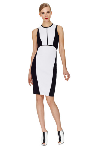 White And Black Knit Sleeveless Dress by NARCISO RODRIGUEZ Now Available on Moda Operandi