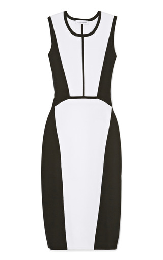 Medium narciso rodriguez black white and black knit sleeveless dress