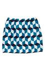 Teal & Black Diamond Printed Skirt by RODARTE Now Available on Moda Operandi