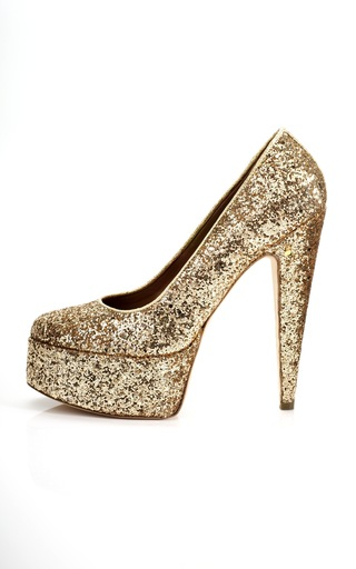 Medium laurence dacade gold vartemis sparkly high heel