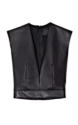Leather Crop Top by CUSHNIE ET OCHS for Preorder on Moda Operandi