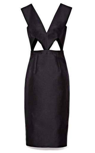 Medium cushnie et ochs black silk blend dress