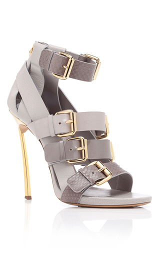 Medium prabal gurung dark grey grey open toe bootie