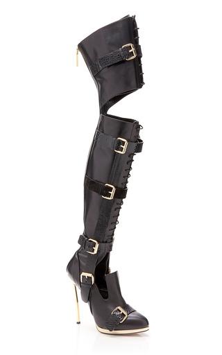 Medium prabal gurung black black over the knee boot
