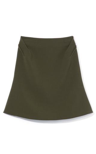 Medium prabal gurung olive regiment angular darted skirt