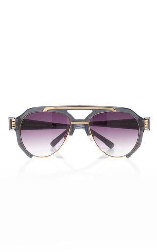 Medium prabal gurung black black aviator sunglasses