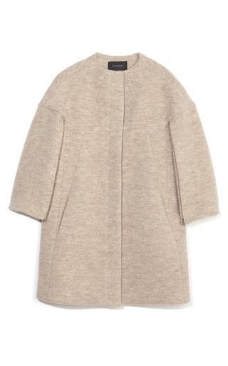Medium thakoon brown zip sleeve high neck coat