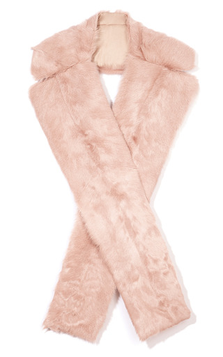 Pink Fur Scarf by THAKOON for Preorder on Moda Operandi