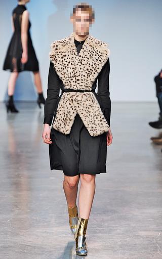 Leopard Fur Scarf by THAKOON for Preorder on Moda Operandi