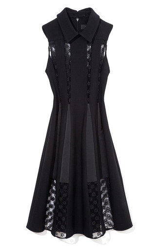 Medium thakoon black sheer lace inset dress