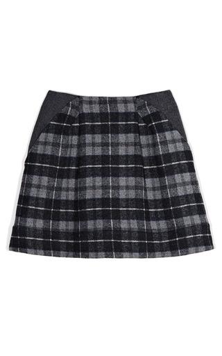 Medium thakoon addition multi plaid a line skirt