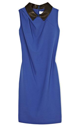 Medium thakoon addition blue sleeveless collared dress